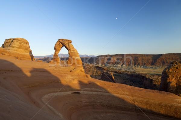 Boog park Utah Verenigde Staten landschap maan Stockfoto © pedrosala