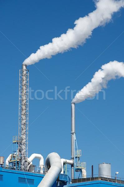 Papír malom égbolt felhők ipar ipari Stock fotó © pedrosala