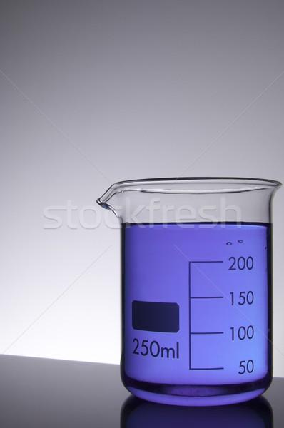 химический стакан Purple жидкость фон промышленности лаборатория Сток-фото © pedrosala