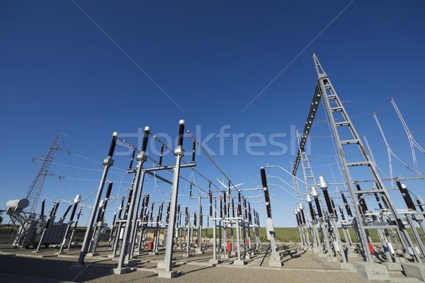 électrique bleu ciel clair technologie métal industrie Photo stock © pedrosala