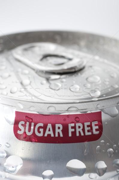 Zucchero libero view alluminio può soda Foto d'archivio © pedrosala