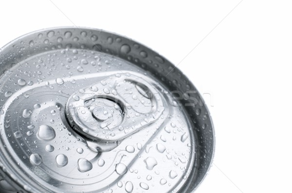 Soda aluminium kan water drinken Rood Stockfoto © pedrosala