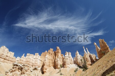 sandstone spires and clouds Stock photo © pedrosala
