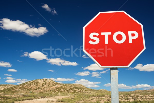 Stop signal Stock photo © pedrosala