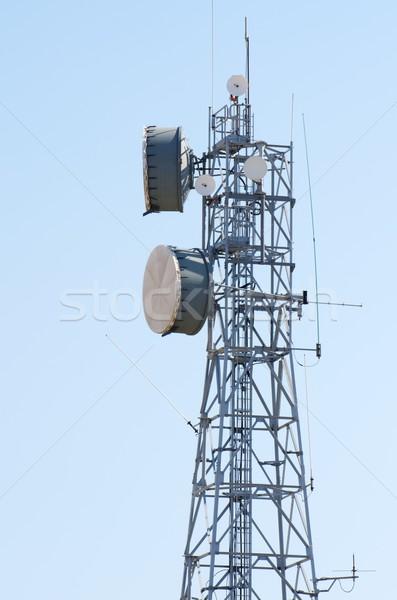Telecomunicações torre pintado dia blue sky negócio Foto stock © pedrosala