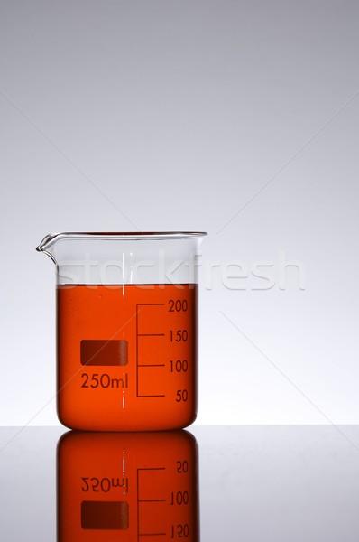Bécher capacité deux cent cinquante rouge Photo stock © pedrosala