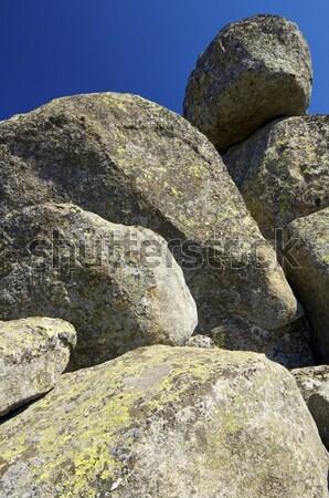 La skała naturalnych parku Madryt Hiszpania Zdjęcia stock © pedrosala