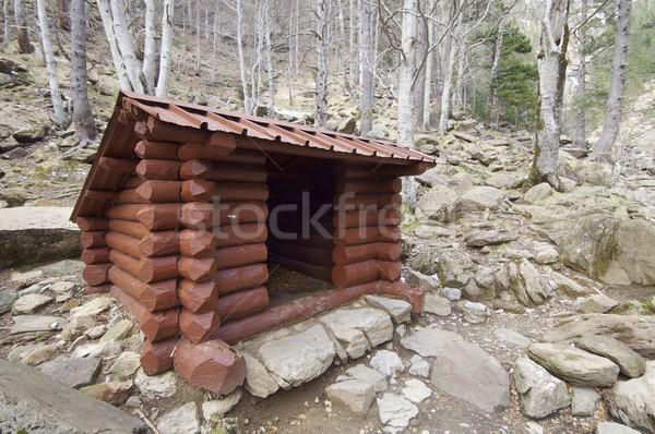 Legno rifugio foresta parco legno panorama Foto d'archivio © pedrosala