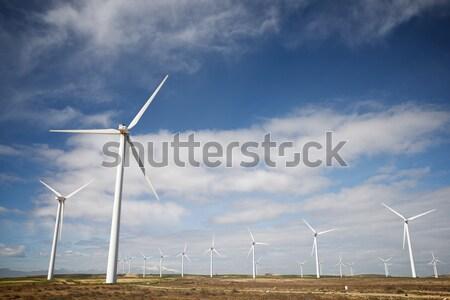 Wind energie elektrische macht productie hemel Stockfoto © pedrosala