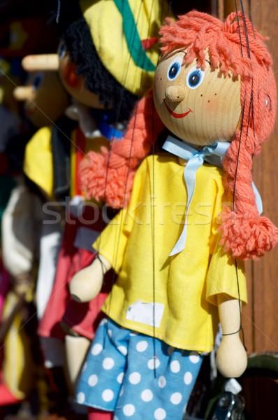Прага подробность девушки марионетка лице древесины Сток-фото © pedrosala