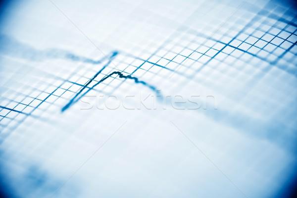 Elektrokardiogram közelkép papír űrlap orvosi szív Stock fotó © pedrosala