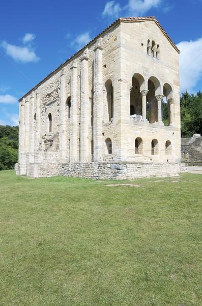 Stock photo: Romanesque  church