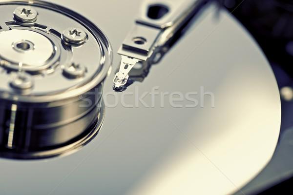 Festplatte öffnen Computer Festplatte Internet Stock foto © pedrosala