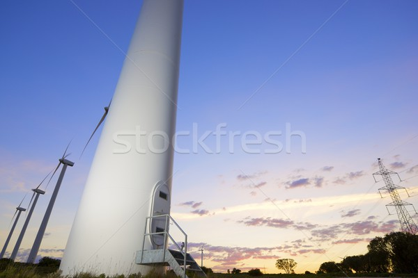 Vento energia elétrico poder produção sol Foto stock © pedrosala