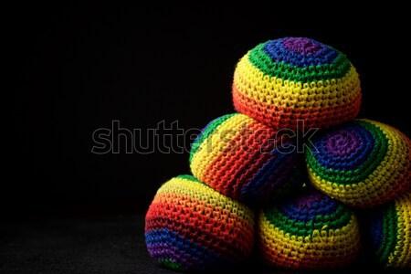 Szín golyók három színek zsonglőrködés narancs Stock fotó © pedrosala