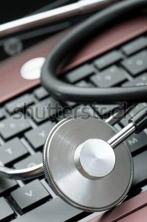 Línea estetoscopio negocios Internet Foto stock © pedrosala