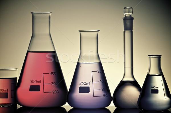 Laboratuvar grup sıvı renk sağlık arka plan Stok fotoğraf © pedrosala