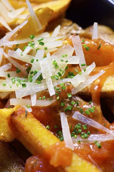 фри овощей продовольствие пластина быстро Сток-фото © pedrosala
