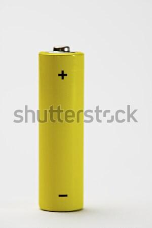 Citromsárga elem fehér asztal felirat energia Stock fotó © pedrosala