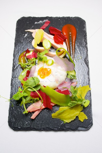 Poached egg Stock photo © pedrosala