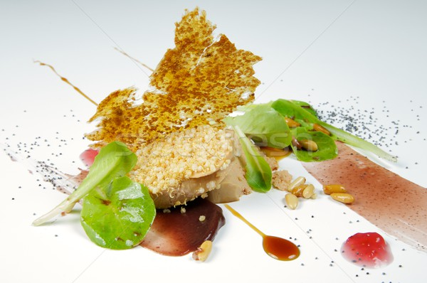 Foie with figs Stock photo © pedrosala