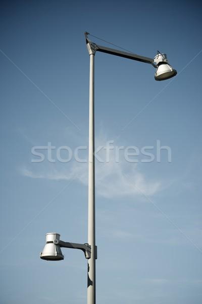 Cielo blu view città strada tecnologia sfondo Foto d'archivio © pedrosala