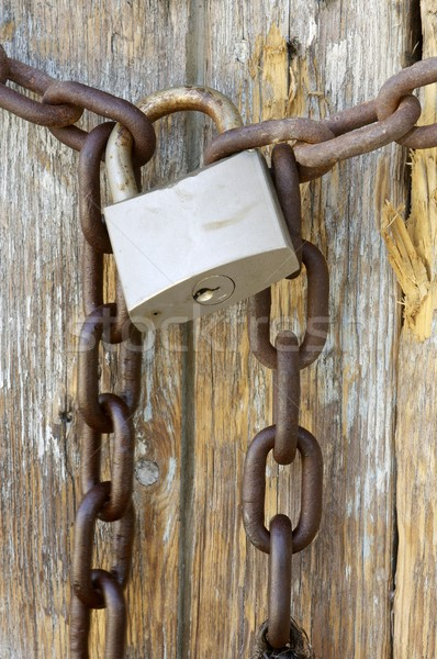 rusty lock Stock photo © pedrosala