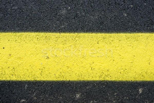 Giallo line vernice segno rock nero Foto d'archivio © pedrosala