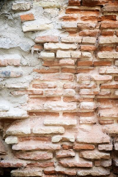 Pared de ladrillo edad textura pared ladrillo wallpaper Foto stock © pedrosala