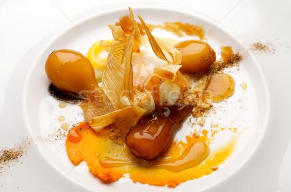 卵 玉葱 クローズアップ プレート 食品 ディナー ストックフォト © pedrosala