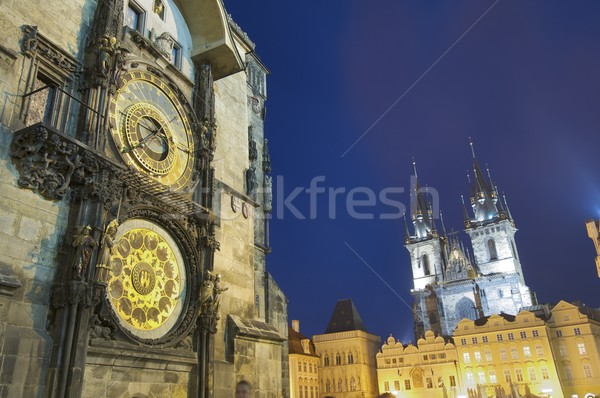 night Prague Stock photo © pedrosala