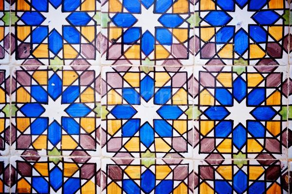 плиточные стены Лиссабон Португалия текстуры искусства Сток-фото © pedrosala