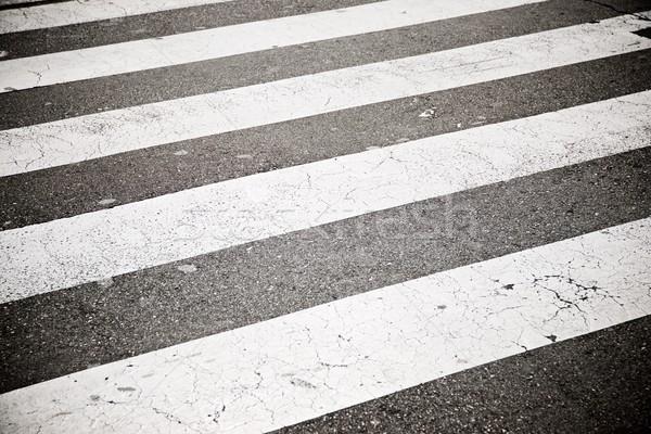 Zebra crossing view Stock photo © pedrosala
