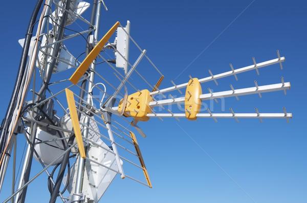 Antenna primo piano tv telecomunicazioni torre telefono Foto d'archivio © pedrosala