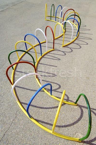 Boisko kolorowy metal bary szkoły miasta Zdjęcia stock © pedrosala