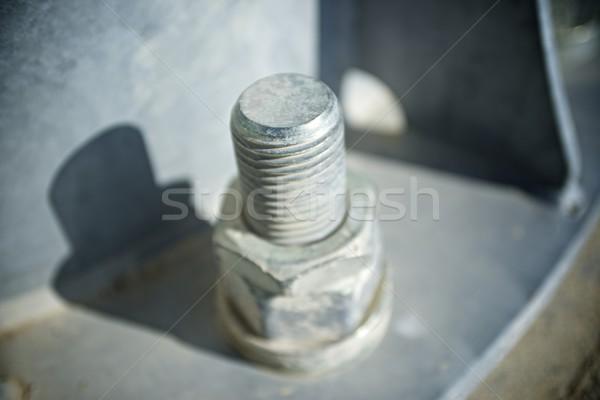Vis métal colonne bâtiment usine Photo stock © pedrosala