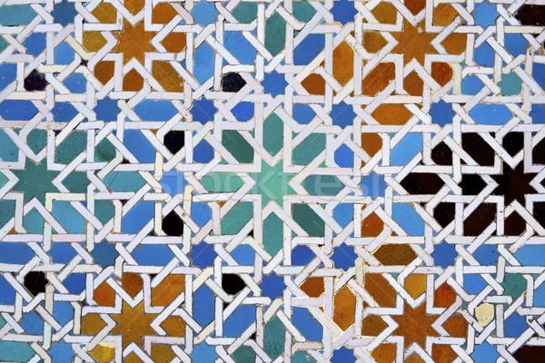 Ceramiczne Płytka andaluzja Hiszpania tekstury Zdjęcia stock © pedrosala