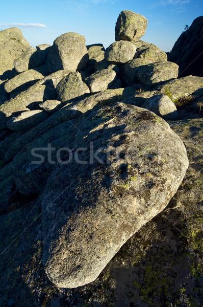 岩石層 青空 ラ マドリード スペイン 風景 ストックフォト © pedrosala