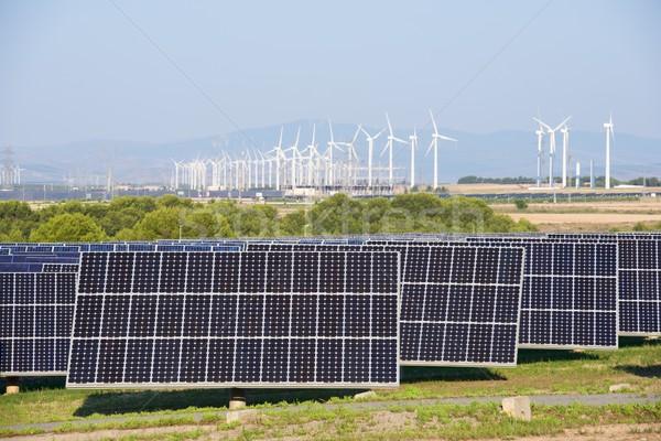 Energie rinnovabili fotovoltaico energia produzione natura tecnologia Foto d'archivio © pedrosala