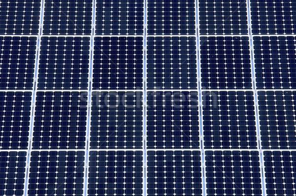 Fotovoltaikus panel részlet elektromosság gyártás technológia Stock fotó © pedrosala