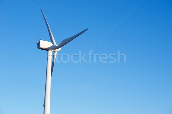 Rüzgâr enerji fırıldak elektrik güç üretim Stok fotoğraf © pedrosala