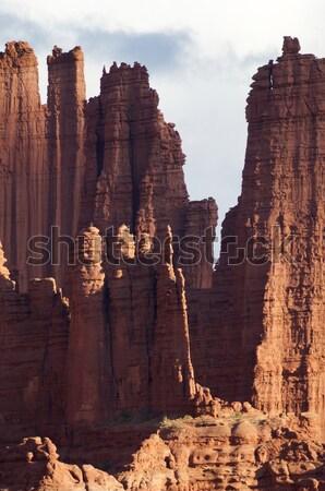 Rybak wieża pustyni Utah USA Zdjęcia stock © pedrosala