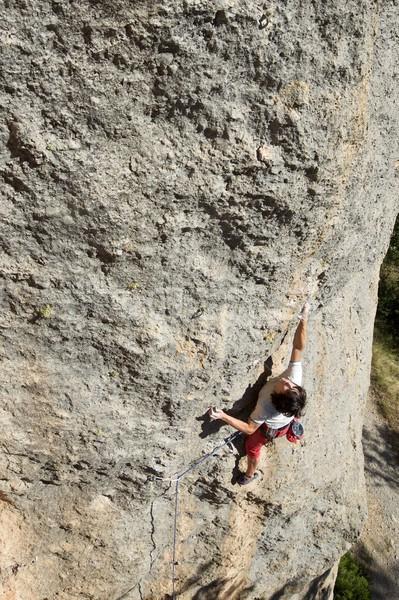 Climbing muro sport montagna rock esercizio Foto d'archivio © pedrosala