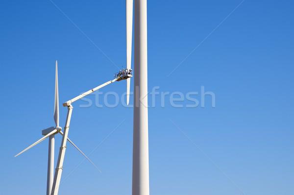 Repairing a windmill Stock photo © pedrosala