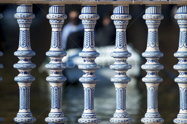 Kerámia kerítés tér helyszín amerikai kiállítás Stock fotó © pedrosala