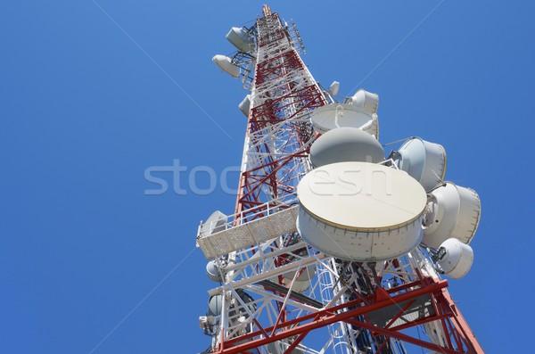 電気通信 塔 ボトム 表示 青空 ビジネス ストックフォト © pedrosala
