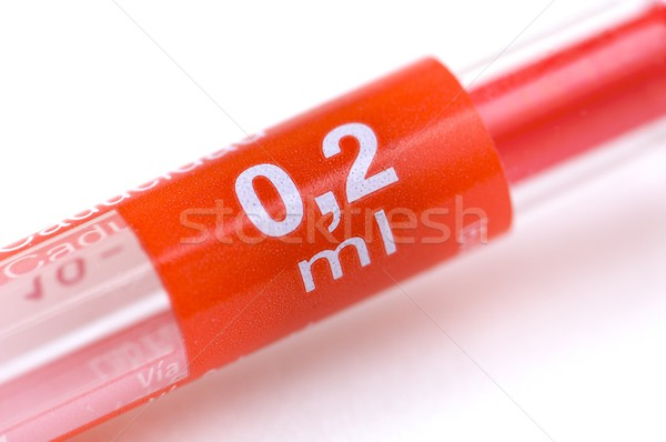 Szczegół czerwony igły pojemność zdrowia tle Zdjęcia stock © pedrosala