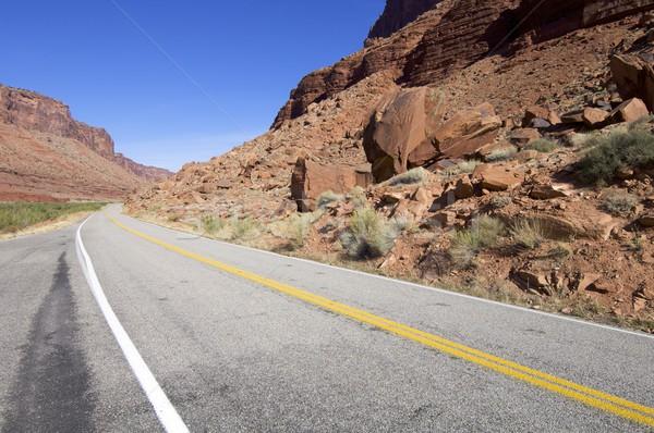 道路 風景 ユタ州 米国 光 背景 ストックフォト © pedrosala
