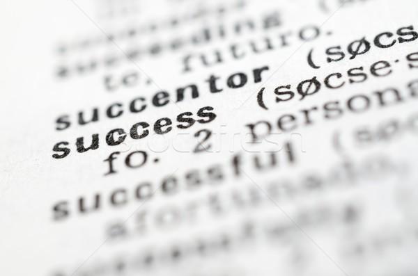 Successo scritto parola dizionario business carta Foto d'archivio © pedrosala