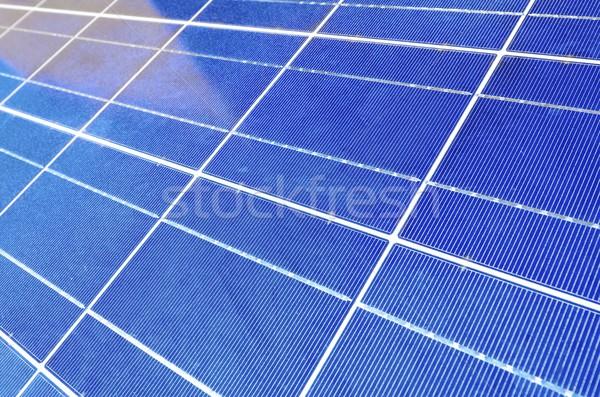 Fotovoltaikus panel közelkép elektromos energia gyártás Stock fotó © pedrosala